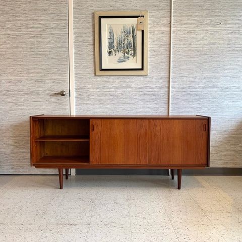 Early Danish Modern Teak 3 Door Sideboard