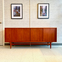 Early Danish Mid-Century Teak 4 Door Sideboard By Bernhard Pedersen & Son