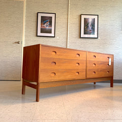 Early Danish Mid-Century Teak Modular 6 Drawer Dresser By Vitze