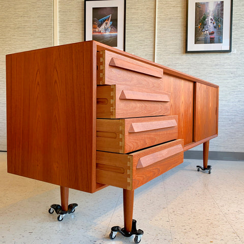 Early Mid-Century Danish Teak Sideboard by Faarup Mobelfabrik