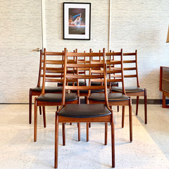 Elegant Danish Mid-Century Solid Rosewood Dining Chairs By Korup Stolefabrik