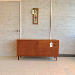 Compact Danish Modern Teak Media Cabinet By Poul Hundevad Co.