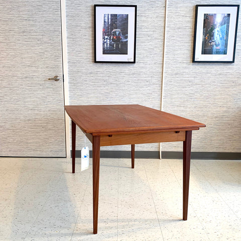 Elegant Mid-Century Teak Extending Surfboard Dining Table