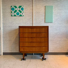 Exceptional Mid-Century Modern Teak Tall Dresser Or Chest