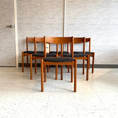 Exceptional Set Of 6 Danish Modern Teak Dining Chairs