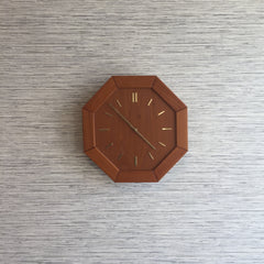 Danish Modern Teak Wall Clock By Westminister