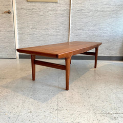 Generous Mid-Century Teak Coffee Table