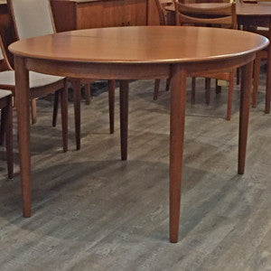 Mid Century Danish Teak Extending Oval Dining Table - Vintage Home Boutique - 5
