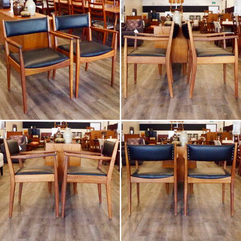 Mid Century Teak Arm Chairs