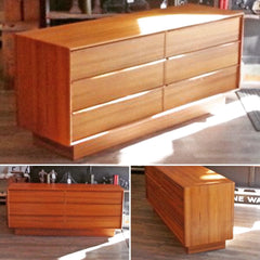 New Old Stock Mid-Century Teak Dresser