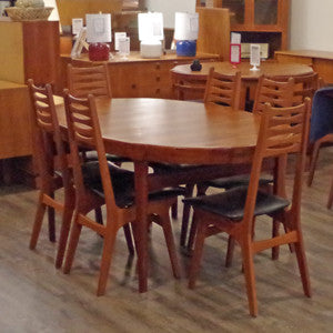 Solid Teak Extending Dining Table By Ib Kofod Larsen - Vintage Home Boutique - 1