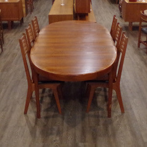 Solid Teak Extending Dining Table By Ib Kofod Larsen - Vintage Home Boutique - 5