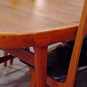 Solid Teak Extending Dining Table By Ib Kofod Larsen - Vintage Home Boutique - 7