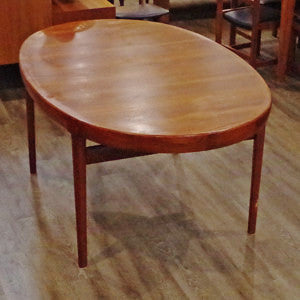 Solid Teak Extending Dining Table By Ib Kofod Larsen - Vintage Home Boutique - 2