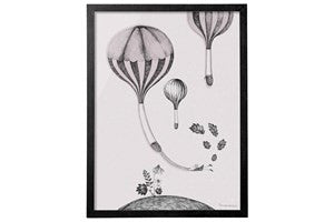 Large Whimsical Hot Air Balloon Print - Vintage Home Boutique