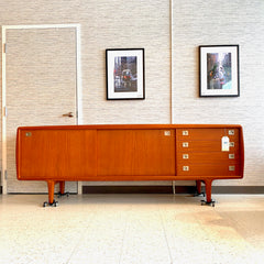 Large Danish Mid Century Teak Sideboard by HP Hansen