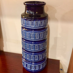 Large West German Cobalt Blue Vase