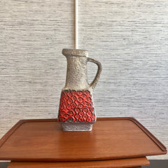Large West German Fat Lava Vase Or Jug By Bay