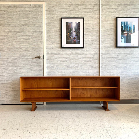 Low Danish Modern Media Cabinet Or Bookcase By HP Hansen