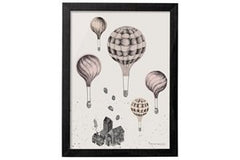 Medium Whimsical Hot Air Balloon Prints - Vintage Home Boutique - 1