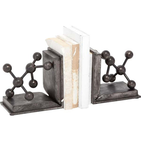 Vintage Inspired Metal Molecule Bookends - Vintage Home Boutique - 3