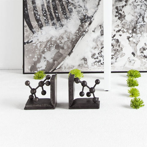 Vintage Inspired Metal Molecule Bookends - Vintage Home Boutique - 1