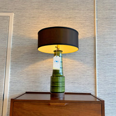 Mid-Century Glazed Ceramic Table Lamp