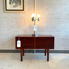 Mid-Century Modern Chrome 3 Bulb Table Lamp