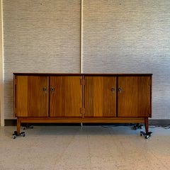 Mid-Century Modern Solid African Teak Sideboard By Imperial