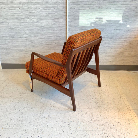 Mid-Century Modern Solid Walnut Armchair By Ib Kofod Larsen For Selig