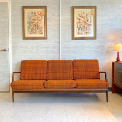 Mid-Century Modern Solid Walnut Sofa By Ib Kofod Larsen For Selig