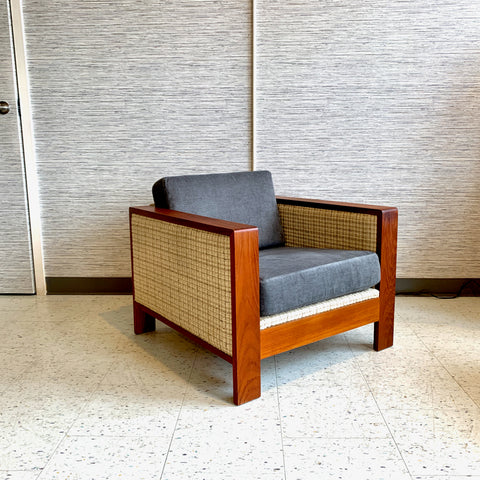 Mid-Century Modern Teak Club Chair