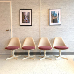 Mid-Century Modern Tulip Style Dining Chairs By Maurice Burke