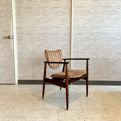 Mid-Century Modern Walnut Armchair By Selig With Original Upholstery