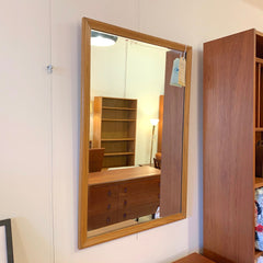 Mid-Century Oak Hall Mirror