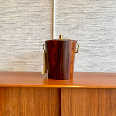 Mid-Century Rosewood And Brass Ice Bucket By Dansk
