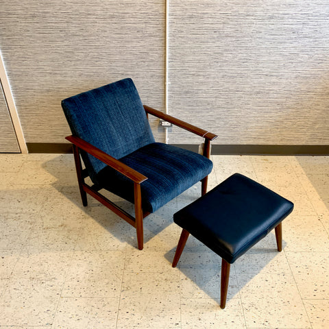 Mid-Century Rosewood Armchair And Ottoman By Ingmar Relling For Ekornes