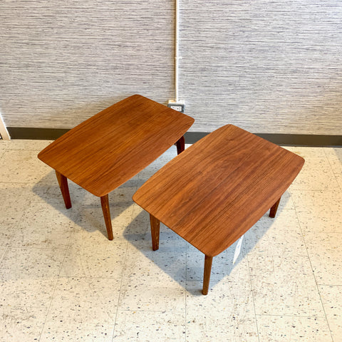Mid-Century Teak And Oak Side Tables