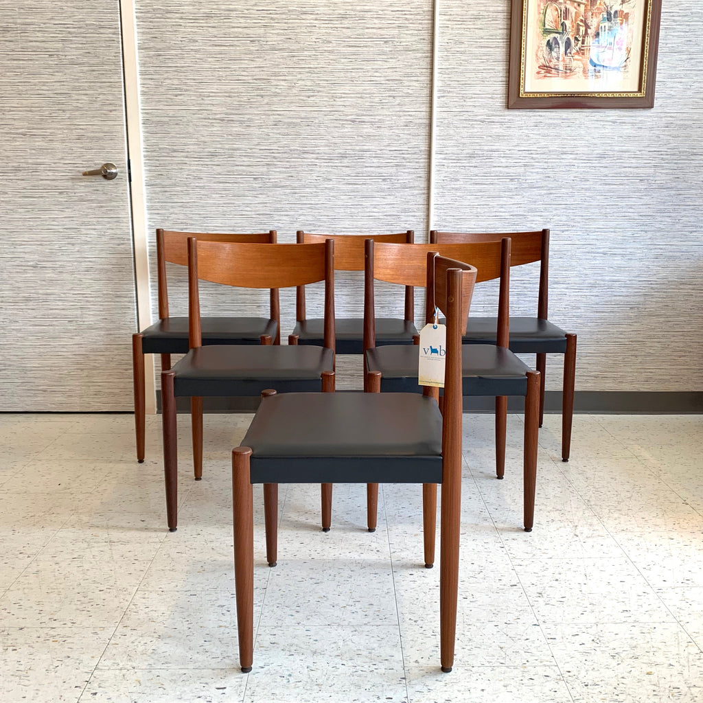 Mid Century Teak Dining Chairs By Poul Volther For Frem Rojle Mobelfab