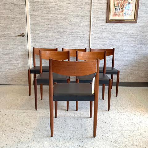 Mid-Century Teak Dining Chairs By Poul Volther For Frem Rojle Mobelfabrik