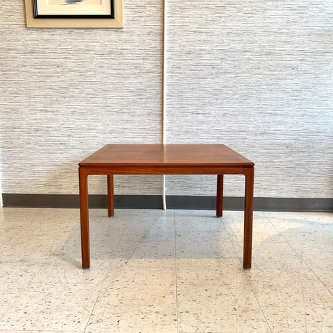 Danish Mid-Century Teak Square Coffee Or Corner Table