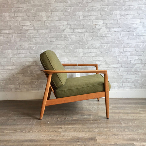 Mid-Century Barrel Back Lounge Chair By Folke Ohlsson For Dux