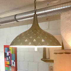 Mid-Century Brass Hanging Lamp Or Pendant