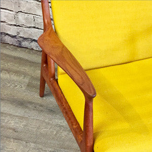 Mid-Century Danish Teak Lounge Chair by Erik Andersen and Palle Pedersen for Horsnaes