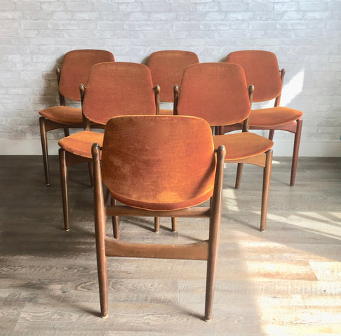 Mid-Century Dining Chairs By Arne Vodder For France And Daverkosen