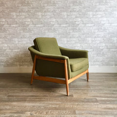 Mid-Century Exposed Frame Lounge Chair By Folke Ohlsson For Dux