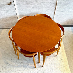 Mid-Century Modern Heart Dining Set By Hans Wegner For Fritz Hansen