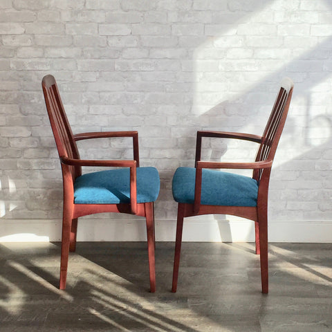 Mid-Century High Back Dining Chairs By Svegards Markaryd