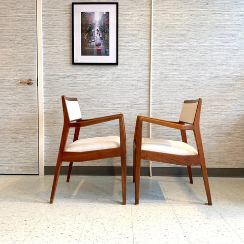 "Mid-Century Modern ""Playboy"" Armchairs In Walnut By Jen Risom"