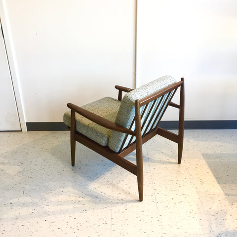 Mid-Century Modern Solid Walnut Armchair By Baumritter Furniture
